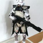 StarWars figurine : STAR WARS CLONE TROOPER COMMANDER EVOLUTIONS THE FALL OF THE REPUBLIC 2005 ROTS