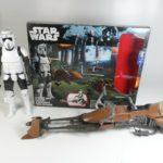 Figurine StarWars : STAR WARS SCOUT BIKE SPEEDER FIGURINE 30 CM MOTO JET 50 CM HASBRO