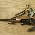 Figurine StarWars : Hasbro - figurine Star Wars - Leia et son speeder bike - épisode 6