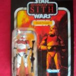 Figurine StarWars : STAR WARS VINTAGE COLLECTION - CLONE TROOPER SHOCK TROOPER ROTS VC110 NEUF