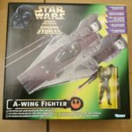 StarWars figurine : Rare Star Wars Kenner POTF2 A-Wing Fighter Vehicle Mint in Box