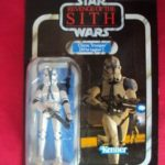 StarWars collection : STAR WARS VINTAGE COLLECTION CLONE TROOPER 501st LEGION ROTS VC60 UNPUNCHED CARD