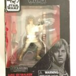 """StarWars collection : NEW Star Wars Luke Skywalker Black Series 40th Anniversary Titanium 3.75"""" Figure"""