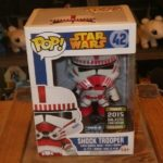 StarWars collection : Funko Pop - star wars Shock trooper #42 - vaulted - box protector