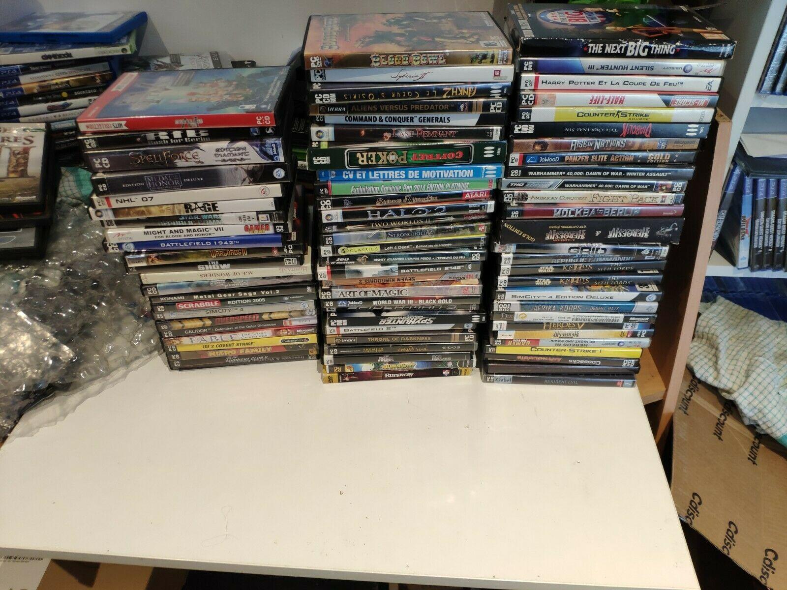 lot 77 jeux pc dvd star wars command and - Bonne affaire StarWars