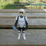 StarWars figurine : Biker scout complet / Star Wars vintage Kenner ROTJ loose Action Figure  83*