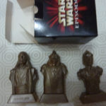 StarWars collection : boite 3 figurines STAR WARS épisode 1 BOSS NASS QUI GON JINN C-3PO NEUVES