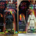 "StarWars figurine : (DHL)Hasbro Star Wars Celebration 6"" inch Darth Maul + Obi-Wan Kenobi (set of 2)"