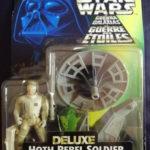 StarWars figurine : Figurine Star Wars 1997 Deluxe - Soldat rebelle de Hoth avec canon laser