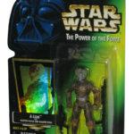 StarWars collection : Star Wars Pouvoir de la Force 4-Lom Kenner Vintage Vert Carte Figurine